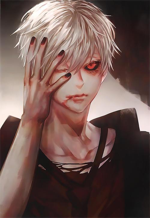 White Hair Kaneki by xearo-tnc