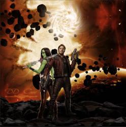 Star Lord x Gamora by DDxxCrew