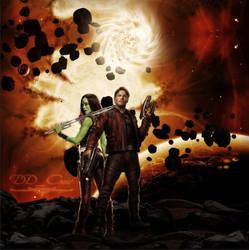 Star Lord x Gamora (Lighter Vers.) by DDxxCrew