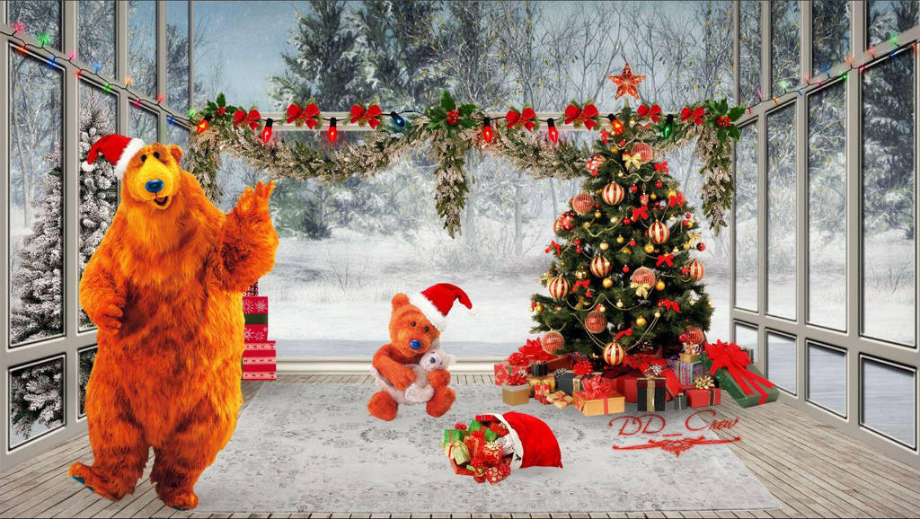 Christmas with Bear at the big blue house by DDxxCrew