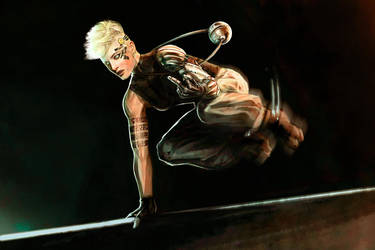 CHOW 344 - Cyber Punk Parkour Runner by lovingit2