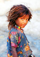 India: Street girl. by NickRainImages