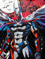 Stained glass picture Batman - The Dark Knight... by Art-Brother