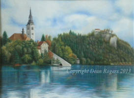 Lake Bled Castle by cheetahspirit