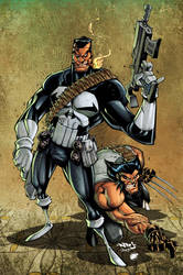 Punisher + Wolvie :: colors by estivador