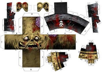 Zombie Paper Toy by estivador