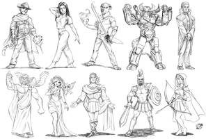 71 To 80 Sketch Commissions by estivador
