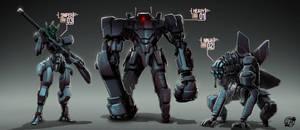 Robot Crew by estivador