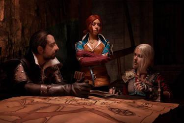 Ciri Triss Lambert cosplay The Witcher 3 by DrosselTira