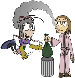 'Are you gonna finish that trash?' by PantaroParatroopa