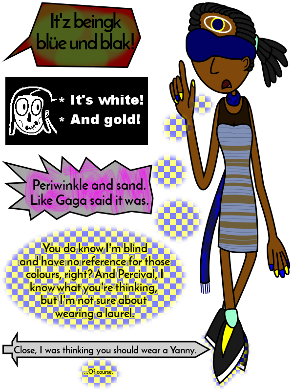 Third-Eye Jenny and #TheDress by PantaroParatroopa