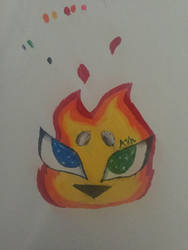 Her eyes blaze from within by ashpaw113