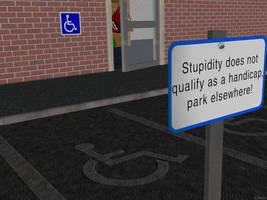 Handicap parking by chain