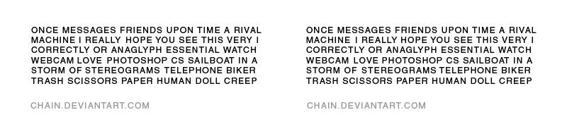 Hidden message by chain
