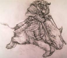 Boar Rider sketch by Azurenex