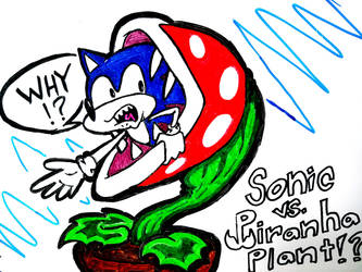 Sonic vs... Piranha Plant!? by Teh-DG