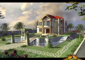 3D Villa by halil-art