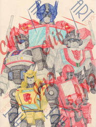 Transformers pointilism by clifthammavongsa