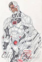 Cyborg in Pointillism by clifthammavongsa