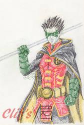 Robin in Pointillism by clifthammavongsa