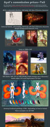Commission prices 2018 by DracoFaunus