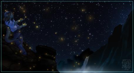 Fireflies by DracoFaunus