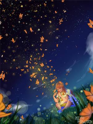 Butterfly Sky w/ Speedpaint by MizuMisuto