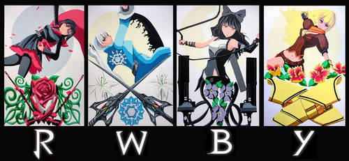 Team RWBY in Tape by TheTapeMistress