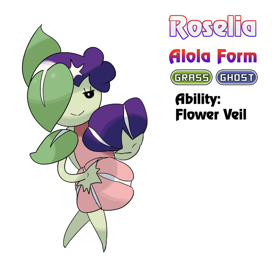 Roselia - Alola Form by locomotive111 on DeviantArt