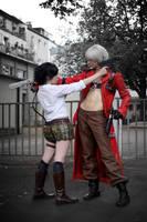Dante + Lady Cosplay: Gunfire by Abessinier