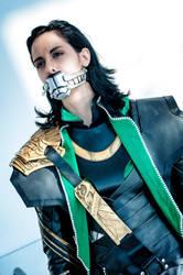 Loki Cosplay : Bound, gagged, not dead yet by Abessinier