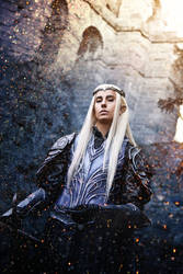 Thranduil Cosplay : Armored Elvenking by Abessinier