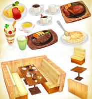Random restaurant pack Download MMD by Hack-Girl