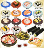 Sushi set pack! MMD download by Hack-Girl
