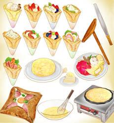 MMD crepe Food pack model download by Hack-Girl