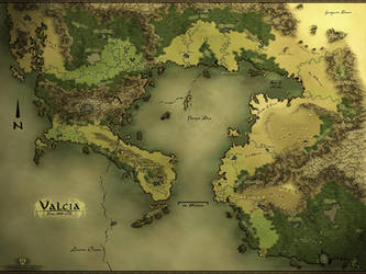 Valcia - Regional Fantasy Map by Authsauce