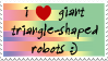 i heart triangle-shaped robots by meimei-stamps