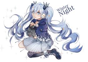 Winter Night Miku by retrozero