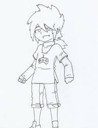 Oscar (line art) by Lil-Peggie-Porkchops