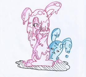 Sludge Bunnies Love to Pafu Pafu by Lil-Peggie-Porkchops