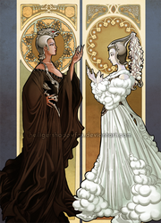 Black Witch and White Witch by Blatterbury