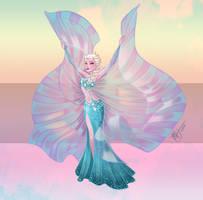 Disney Belly Dancers: Elsa with Isis Wings by Blatterbury