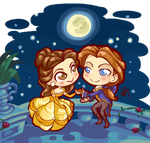 Chibi Commission: The Beauty and the Prince by Blatterbury