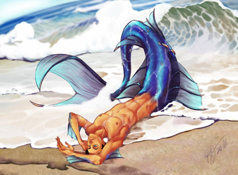 Art Trade_Mermaid!Snafu by Blatterbury