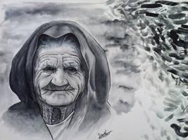 Traditional Art - Grandma Watercolor by DaniNaimare
