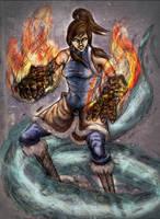 Avatar Korra by redblacktac