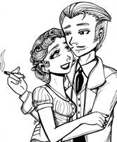 Mr. and Mrs. Howard Hollings by RoseyRoseyMae