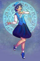 Sailor Mercury by RoseyRoseyMae