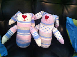 Sock Bunnies by Moonbeam13