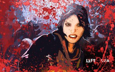 L4D Zoey Wallpaper - Bloody by gmn311